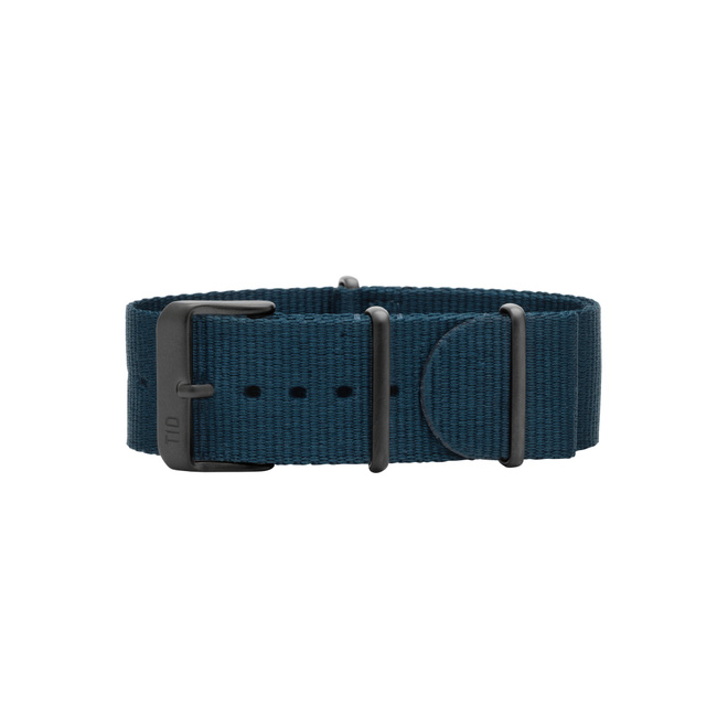 Blue Leather Wristband